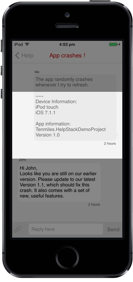 Open source mobile app customer support & In app feedback Management