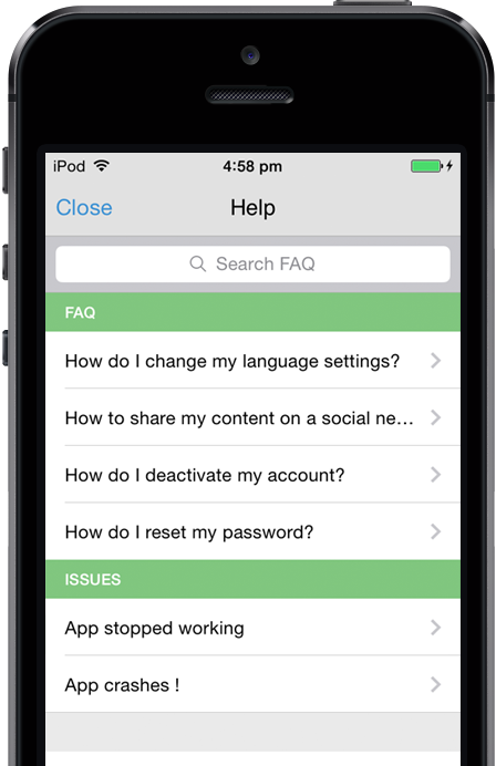 Open source mobile app customer support & In app feedback